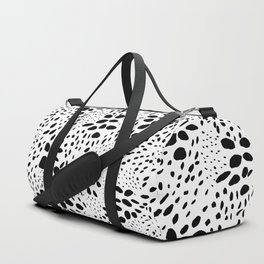 Modern abstract hand painted black polka dots pattern Duffle Bag