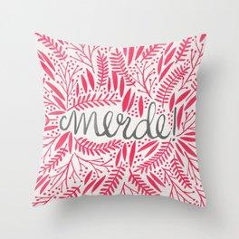 Pardon My French – Pink Throw Pillow