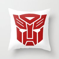 transformers Throw Pillows featuring Transformers by tshirtsz