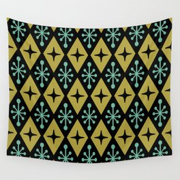 Mid Century Modern Atomic Triangle Pattern 110 Wall Tapestry