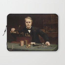 Abraham Archibald Anderson - Thomas Alva Edison (1890) Laptop Sleeve