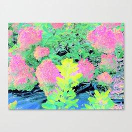 Fluorescent Golden Smoke Tree Garden Canvas Print