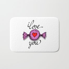I love you (pink) Bath Mat
