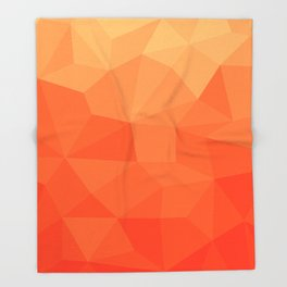 Abstract Geometric Gradient Pattern between Pure Red and very light Orange Throw Blanket