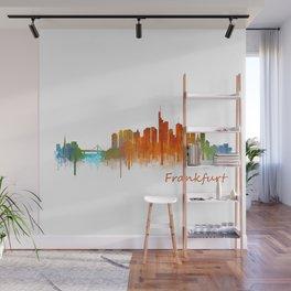 Frankfurt am Main, City Cityscape Skyline watercolor art v2 Wall Mural