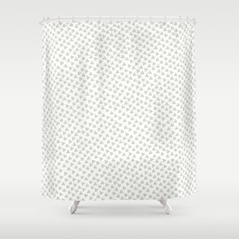 Green Triskele on White Pattern Shower Curtain