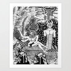 Egyptian Tsunami Curse  Art Print