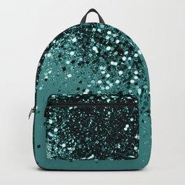 Teal Mermaid Ocean Glitter #3 #shiny #decor #art #society6 Backpack