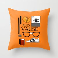 alex vause Throw Pillows featuring Alex Vause Poster by Zharaoh