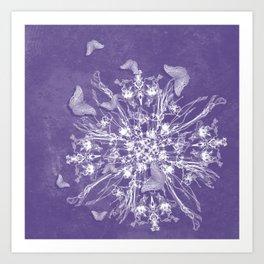 ghost bouquet and butterflies Art Print