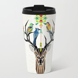 deer birds Travel Mug