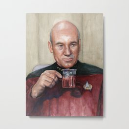 Captain Picard Tea Earl Grey Hot Painting Metal Print