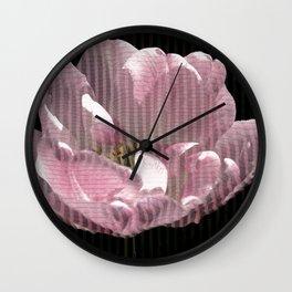Tulip with gauze textured petals Wall Clock