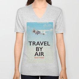 Travel By Air travel poster Unisex V-Neck