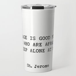 Marriage. St. Jerome quote Travel Mug