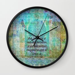 Emerson Inspirational Quote Wall Clock