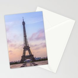 Eiffel Tower Sunrise Stationery Cards