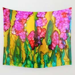 Pink Lilacs Wall Tapestry