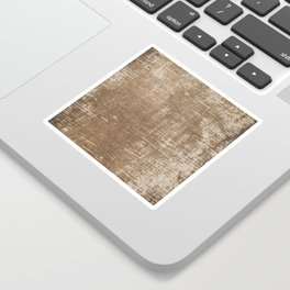 Cement Weathered Brown Abstract Photograph Sticker