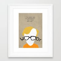 woody Framed Art Prints featuring Woody by Geminianum