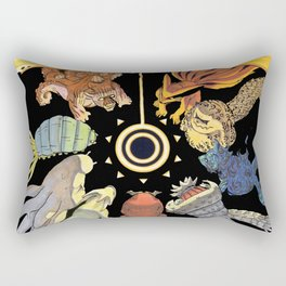 Naruto and Bijuu Rectangular Pillow