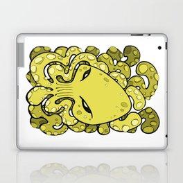 Octopus Squid Kraken Cthulhu Sea Creature - Meadow Lark Yellow Laptop & iPad Skin