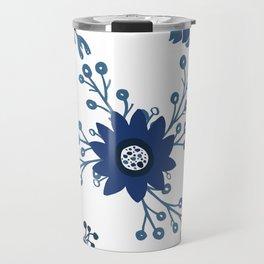 Porcelain Flowers Travel Mug