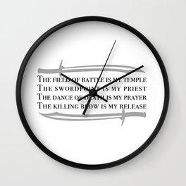 Battle Mantra Wall Clock