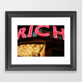My life is Rich Framed Art Print