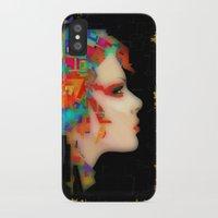 glitch iPhone & iPod Cases featuring Glitch by Steve W Schwartz Art