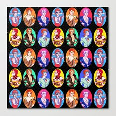 Glam Bowie Spaced Out Canvas Print
