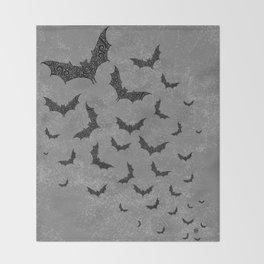Swirly Bat Swarm Throw Blanket