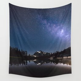 Summer Stars - Galaxy Mountain Reflection - Nature Photography Wall Tapestry