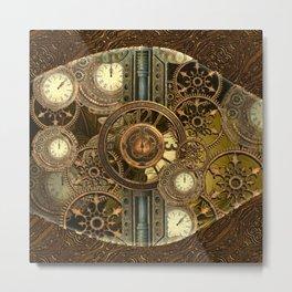 Steampunk, awesome clocks Metal Print
