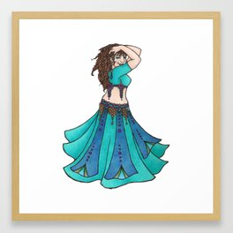 Belly Dancer Ruby Framed Art Print