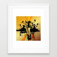saxophone Framed Art Prints featuring Saxophone by nicky2342