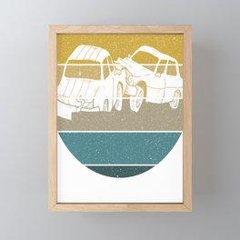 Demolition Derby Team Vintage Car Smash Gift Framed Mini Art Print