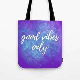 Good Vibes Only - Purple Tote Bag