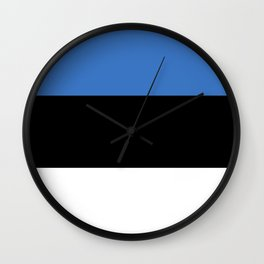 Flag of Estonia - Estonian,Eest,Baltic,Finnic,Sami, Skype,Arvo Part,Tallinn,Tartu, Narva,Snow, Cold Wall Clock