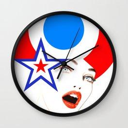 Pop-Art Pinup Wall Clock
