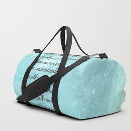 Proverbs 3:5-6, Encouraging Bible Quote Duffle Bag