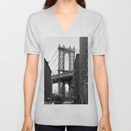 Brooklyn Bridge Unisex V-Neck