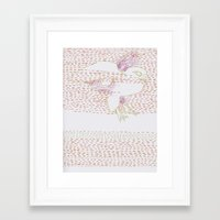 falcon Framed Art Prints featuring Falcon by Julia Walters Illustration