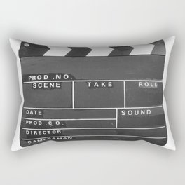 Film Movie Video production Clapper board Rectangular Pillow
