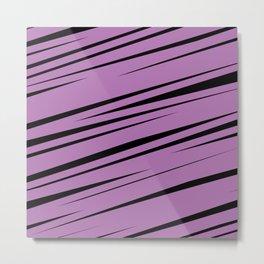 Purple Scribble Metal Print