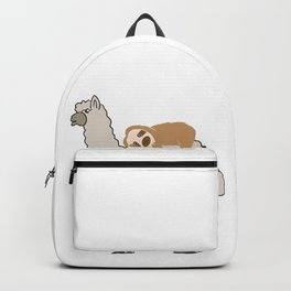 Cute & Funny Sleepy Sloth & Llama Backpack