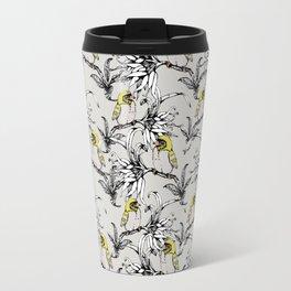 Flowering exotic garden of birds Travel Mug