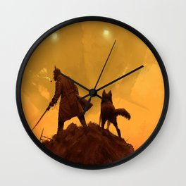 1920 - take your dog for a walk Wall Clock