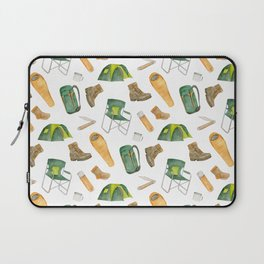 Watercolor camping pattern Laptop Sleeve