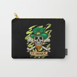 St. Patrick Skull - Irish St. Patrick's Day Carry-All Pouch